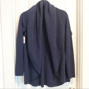 Sweaters - Navy Cashmere Shawl Cardigan sz M